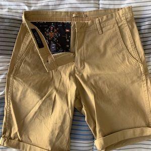 Zara Mens Shorts. New. Tan colored.